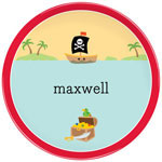 Boatman Geller - Personalized Melamine Plates (Pirate)
