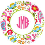 Boatman Geller - Personalized Melamine Plates (Floral Bright)