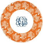 Boatman Geller - Personalized Melamine Plates (Coral Repeat)