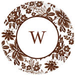 Boatman Geller - Personalized Melamine Plates (Classic Floral Brown)