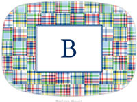 Boatman Geller - Personalized Melamine Platters (Madras Patch Blue)