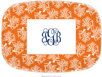 Boatman Geller - Personalized Melamine Platters (Coral Repeat)