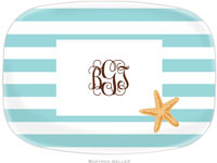 Boatman Geller - Personalized Melamine Platters (Stripe Starfish)