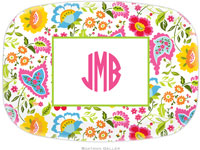 Boatman Geller - Personalized Melamine Platters (Bright Floral)