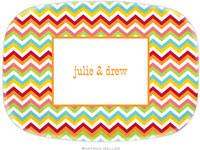 Boatman Geller - Personalized Melamine Platters (Chevron Bright)