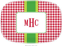 Boatman Geller - Personalized Melamine Platters (Alex Houndstooth Red)