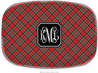 Boatman Geller - Personalized Melamine Platters (Plaid Red Preset - Holiday)