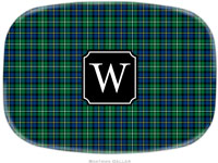 Boatman Geller - Personalized Melamine Platters (Black Watch Plaid Preset - Holiday)