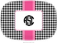 Boatman Geller - Personalized Melamine Platters (Alex Houndstooth Black)