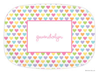 Boatman Geller - Personalized Melamine Platters (Candy Hearts)