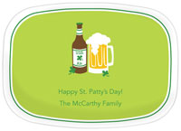 Boatman Geller - Personalized Melamine Platters (Irish Ale - St. Patrick's Day)