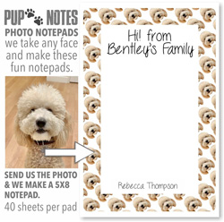 Pup Notes Notepads by Namedrops (Create-Your-Own Pattern)