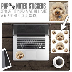 Pup Notes Cling It Stickers by Namedrops (Create-Your-Own)