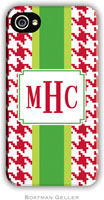 Boatman Geller Hard Phone Cases - Alex Houndstooth Red