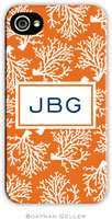 Boatman Geller Hard Phone Cases - Coral Repeat