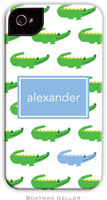 Boatman Geller Hard Phone Cases - Alligator Repeat Blue