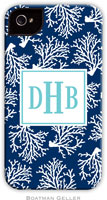 Boatman Geller Hard Phone Cases - Coral Repeat Navy