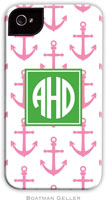 Boatman Geller Hard Phone Cases - Anchors Pink (Preset)
