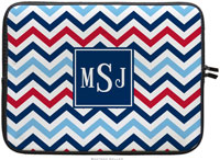 Boatman Geller Laptop Sleeves - Chevron Blue & Red (Preset)