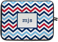 Boatman Geller Laptop Sleeves - Chevron Blue & Red