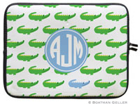 Boatman Geller Laptop Sleeves - Alligator Repeat Blue (Preset)