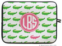 Boatman Geller Laptop Sleeves - Alligator Repeat (Preset)