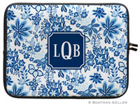 Boatman Geller Laptop Sleeves - Classic Floral Blue (Preset)