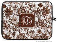 Boatman Geller Laptop Sleeves - Classic Floral Brown (Preset)