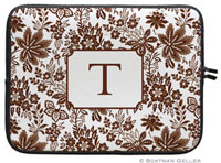 Boatman Geller Laptop Sleeves - Classic Floral Brown