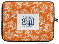 Boatman Geller Laptop Sleeves - Coral Repeat