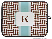 Boatman Geller Laptop Sleeves - Alex Houndstooth Chocolate