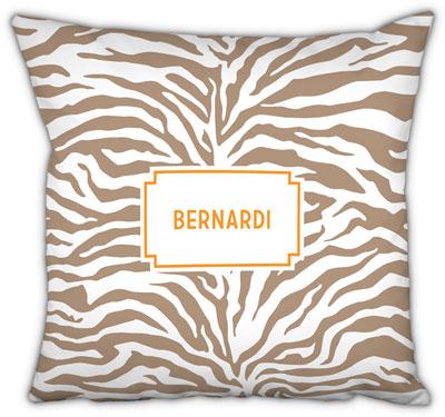 Boatman Geller - Create-Your-Own Square Throw Pillows (Zebra)