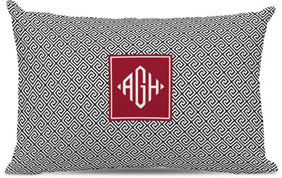 Boatman Geller - Create-Your-Own Lumbar Throw Pillows (Greek Key)
