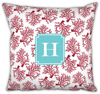 Boatman Geller - Create-Your-Own Square Throw Pillows (Coral)