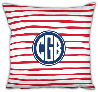 Boatman Geller - Create-Your-Own Square Throw Pillows (Brush Stripe)