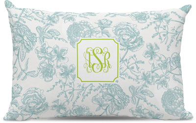 Boatman Geller - Create-Your-Own Lumbar Throw Pillows (Floral Toile)