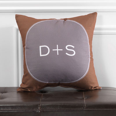Checkerboard - Personalized Throw Pillows (Scrolled) (ADJ-JVD-F)
