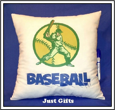 Just Gifts by Robin - Autograph Pillows (Baseball) (TR15)