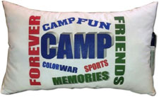 Just Gifts by Robin - Autograph Camp Pillows (Camp Fun)