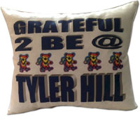 Just Gifts by Robin - Throw Pillows (Grateful Bear)