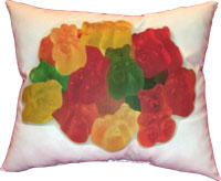 Just Gifts by Robin - Throw Pillows (Gummy Bear)