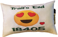 Just Gifts by Robin - Autograph Camp Pillows (Emoji Love with Camp Name & Zip)