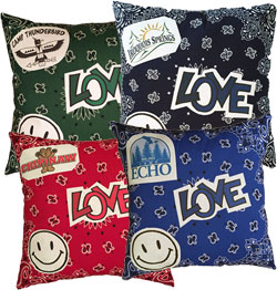 Just Gifts by Robin - Throw Pillows (Bandana Smiley Patch)