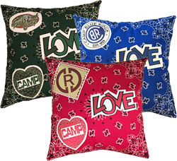 Just Gifts by Robin - Throw Pillows (Bandana Love Heart Patch)