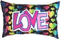 Just Gifts by Robin - Camp Throw Pillows (Hearts Love in Pink)