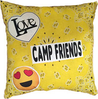 Just Gifts by Robin - Throw Pillows (Bandana Camp Friends)
