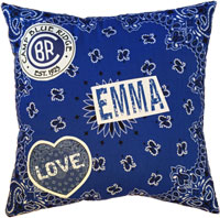 Just Gifts by Robin - Throw Pillows (Bandana with Name)