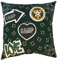 Just Gifts by Robin - Throw Pillows (Bandana/Plaid Patches)