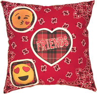 Just Gifts by Robin - Throw Pillows (Bandana Plaid Patch Friends/Emoji)