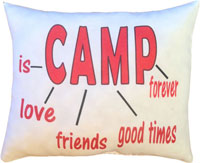 Just Gifts by Robin - Throw Pillows (Camp Is)